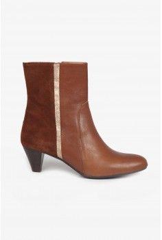 Boots bi-matière noisette