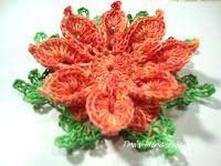 Tina's handicraft : 3D crochet flower No13