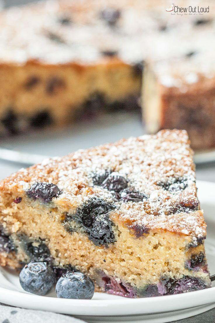 Easy Blueberry Sour Cream Cake Recipe With Images Cake Recipes Breakfast Bundt Cake Blueberry Sour Cream Cake