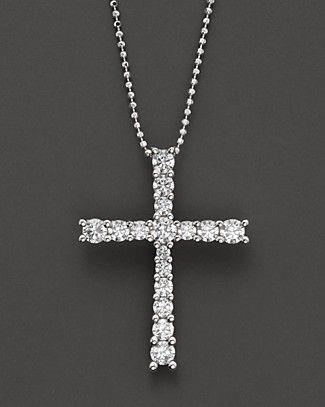 Bloomingdale's Diamond Cross Necklace