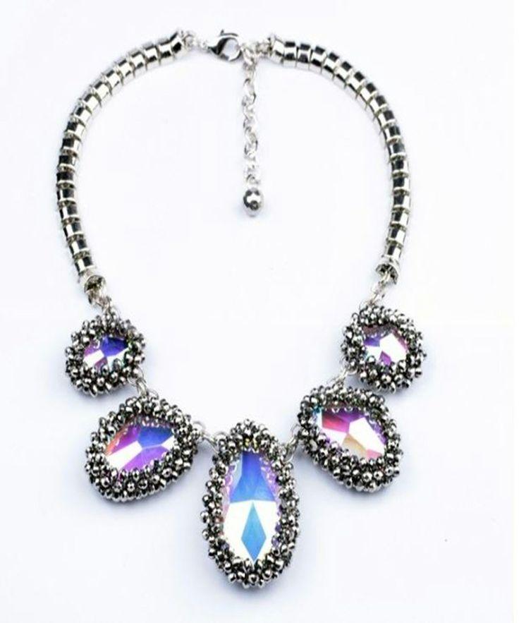 Celebrity Studded Crystal Necklace : Seen on Kyle Richards, Stassi Schroeder & Kathy Wakile AVAILABLE HERE: http://celebritystudded.com/shop/celebrity-chunky-crystal-necklace/