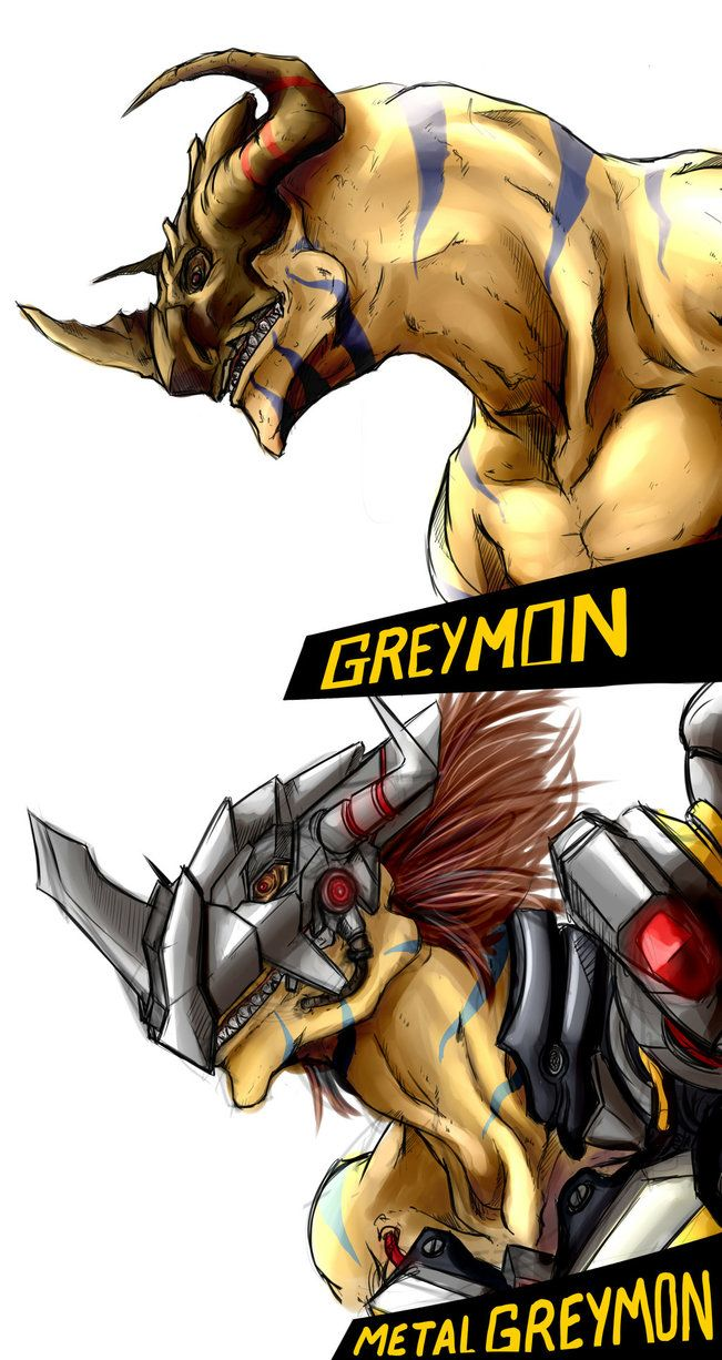 Greymon Sketches by kaizer33226 on DeviantArt