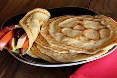 Tortilla de tapioca e farinha de coco