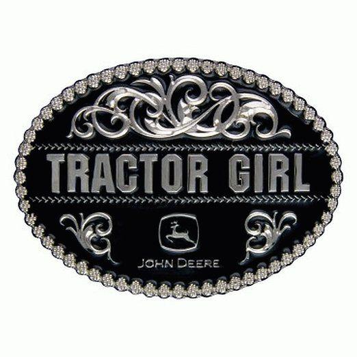 Amazon.com: John Deere Tractor Girl Black Belt Buckle: Clothing
