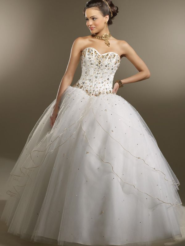 Ball Gown Sweetheart Tulle Floor-length Sleeveless Crystal Detailing Quinceanera Dresses at pickedlooks.com