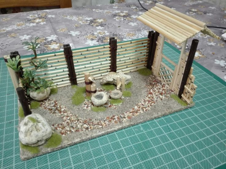 Miniature japanese garden
