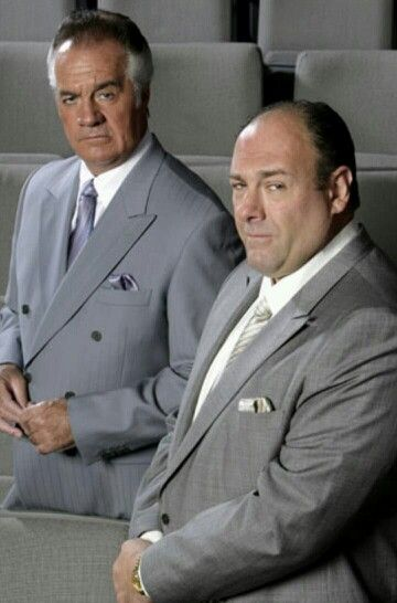 Tony Sirico and James Gandolfini