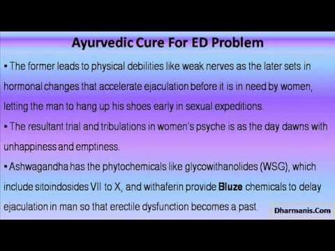 This video describes about herbal treatment and ayurvedic cure for erectile dysfunction problem.