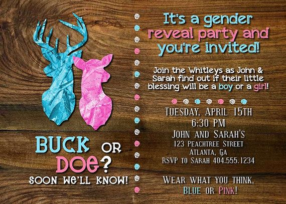 Hey, I found this really awesome Etsy listing at https://www.etsy.com/listing/183759146/buck-or-doe-gender-reveal-party