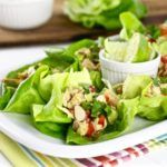 Asian Chicken Salad Lettuce Wraps || Paleo, Whole30, Dairy-free, Gluten-free, Grain-free || http://simplynourishedrecipes.com/asian-chicken-salad-lettuce-wraps/