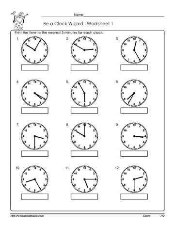 Worksheet -1-Telling-Time