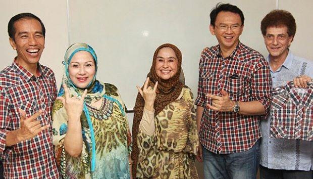 Indonesia Rumah Kita Bersama! Jakarta Semuanya Ada Disini!  Foto: Jokowi, Camelia Malik, Marini Sardi, Ahok, Ahmad Albar