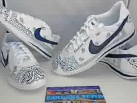 online retailer 2d61f fb73c Custom Sneakers - Bandana Nike Cortez Custom Shoes by Bandana Fever PRETTY  IN PRINTS Pinterest Nike ...