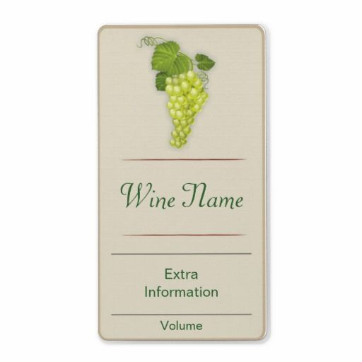White Grape Wine Label