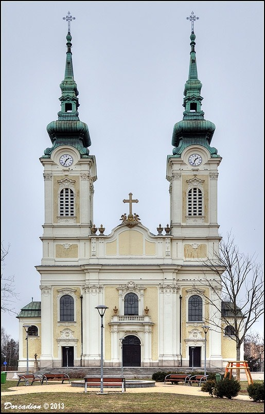 The neo-Baroque Church of Virgin Mary the Queen consecrated in October 1908, belongs to the Roman Catholic parish of Ostrava' district Mariánské Hory, Czechia