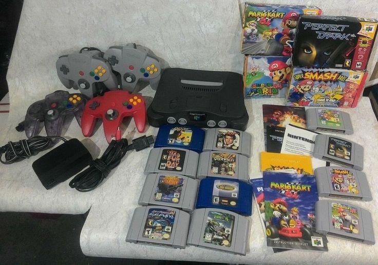 N64 Nintendo 64 Lot w/Orig Controllers Mario Kart, 007, Smash Bros, Super Mario #Nintendo