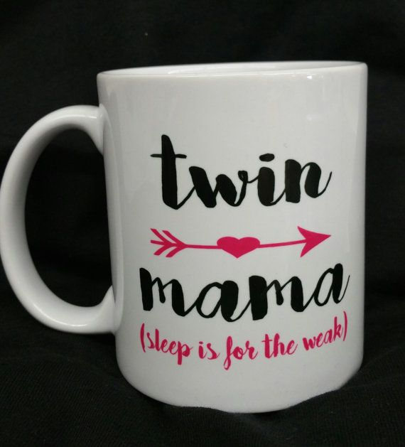 Twin Mama aangepaste mok. Slaap is voor de zwakke. Tweeling liefde. Geen slaap. Twin moeder. Aangepaste mok.