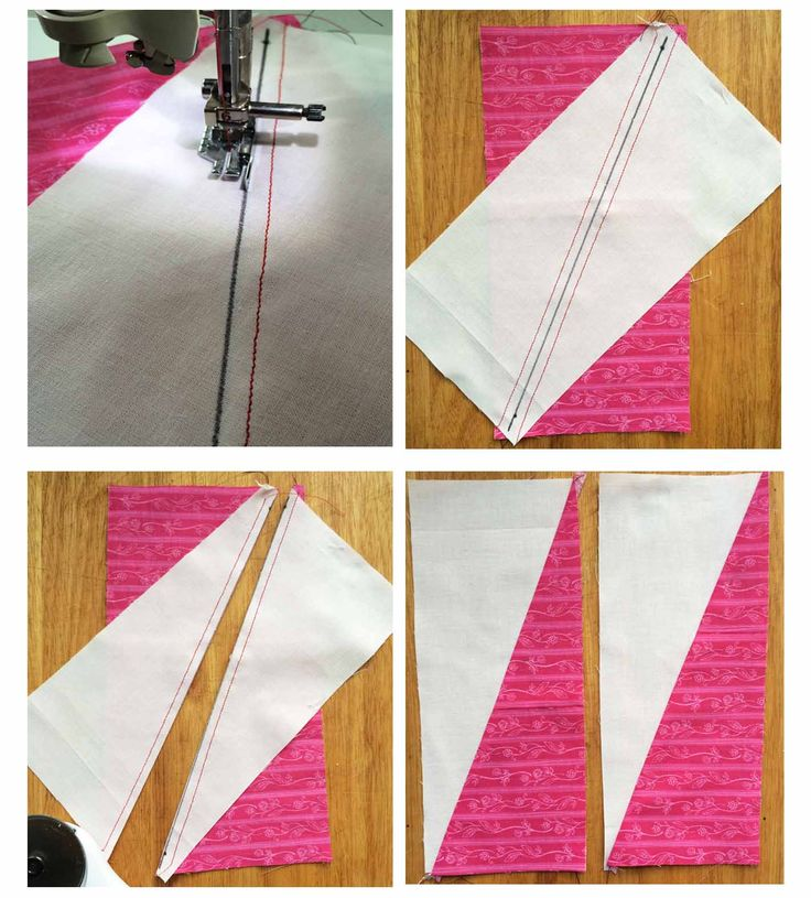 Buttons and Butterflies: Half Rectangle Triangles {Tutorial}
