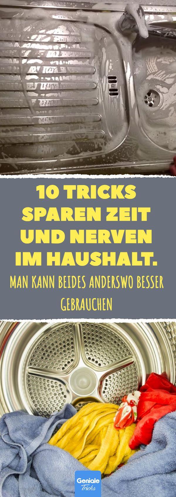 10 Tricks sparen Zeit und Nerven im Haushalt.