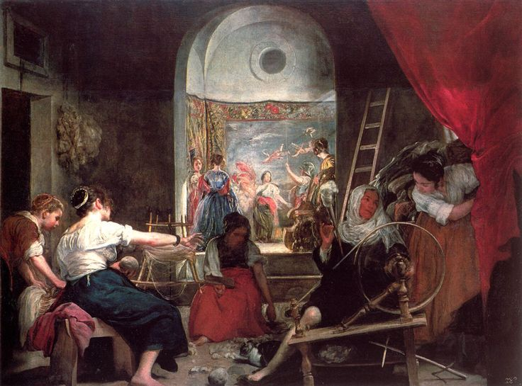 The Fable of Archne (also known as The Spinners): 1644-1648 by Diego Velazquez (Museo del Prado, Madrid) - Baroque