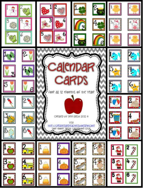 June Calendar Numbers For Preschool : Free printable calendar numbers preschool images
