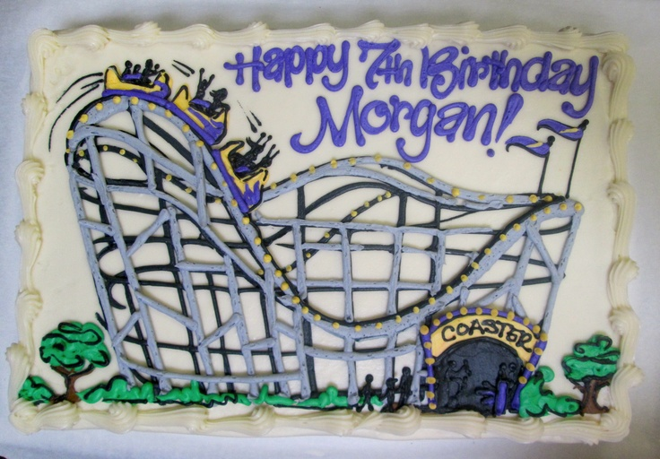 Roller Coaster birthday cake #icingonthecakelosgatos