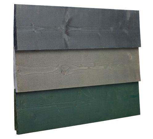 plank, tuinplank, schutting plank, potdeksel, potdekselplank, zweeds rabat, rabat, geimpregneerd, kleur, zwart, grijs, groen, rabatdelen