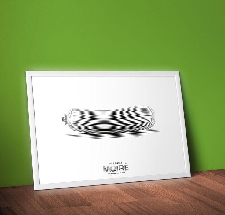::: calabacín ::: proyecto MOIRÈ BODY. La ilustración vibra cuando tú te mueves, disfruta del efecto Moiré. Alimentos que son medicina para nuestro organismo.  Reproducción de laminas Fine Art al tamaño que tu quieras, desde un sencillo A5 hasta un 70x100cm, impresos en papel 100 algodón libres de ácidos y con la mejor impresión Giclée. PIDE UNO en estudio@gomezestudio.com.  #goestudio #gomezestudio #ilustracion #moiré #diseñoalbacete #diseñoclm #igersalbacete #calabacin #verdura #alimentos