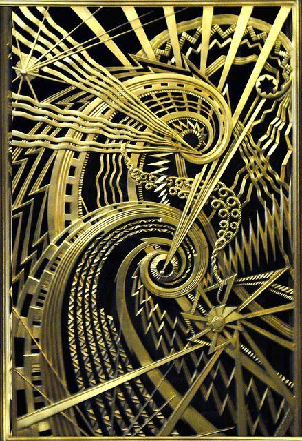 Art Deco metalwork, Chanin Building, New York.