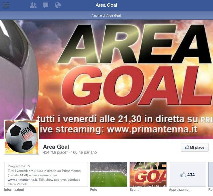 Oltre 400 Mi Piace sulla nostra pagina FB in soli 10 giorni di vita sui social... Grazie!!! www.facebook.com/AreaGoalTv