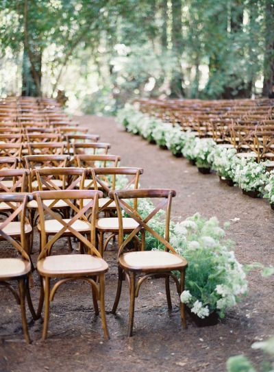 Outdoor woodsy ceremony: http://www.stylemepretty.com/2015/02/17/announcing-laurie-arons-2015-wedding-planner-masterclass/ | Photography: Jose Villa - http://josevilla.com/