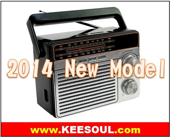 AM FM SW 3Band Portable Radio with USB SD Slot Torch flashlight built in rechargeable battery vintage style radio ,,AC DC power supply ,New Model in 2014 !!! - Consumer Electronics & Big Brand Low Cost /www.Keesoul.com
