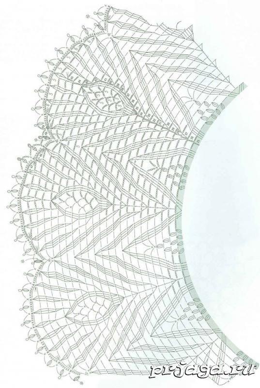 Круглая салфетка крючком схема