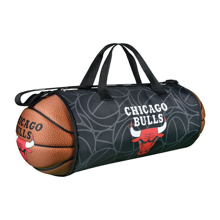 Chicago Bulls Basketball to Duffel Bag, Multicolor