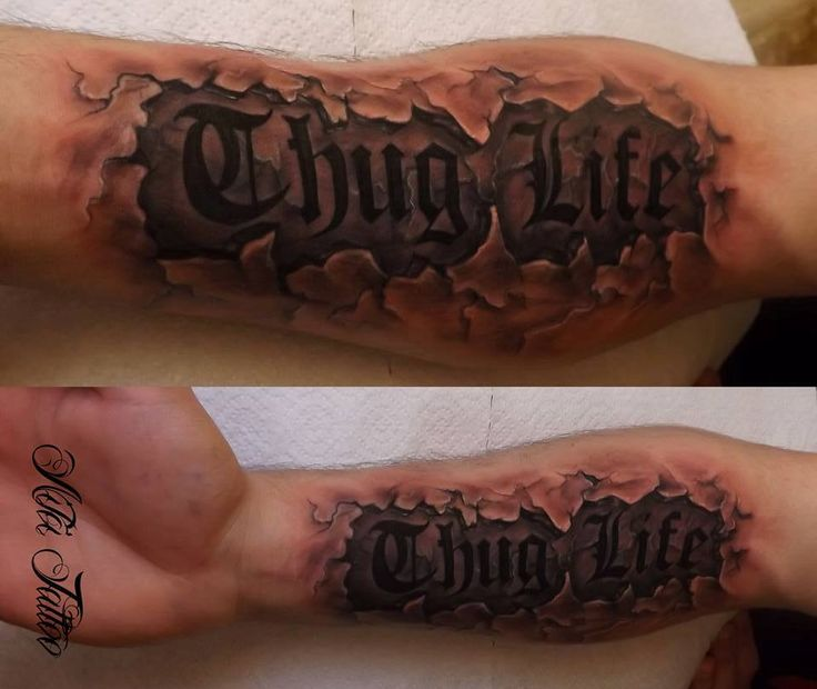Thug Life Tattoo Tumblr Thug life tattoo by