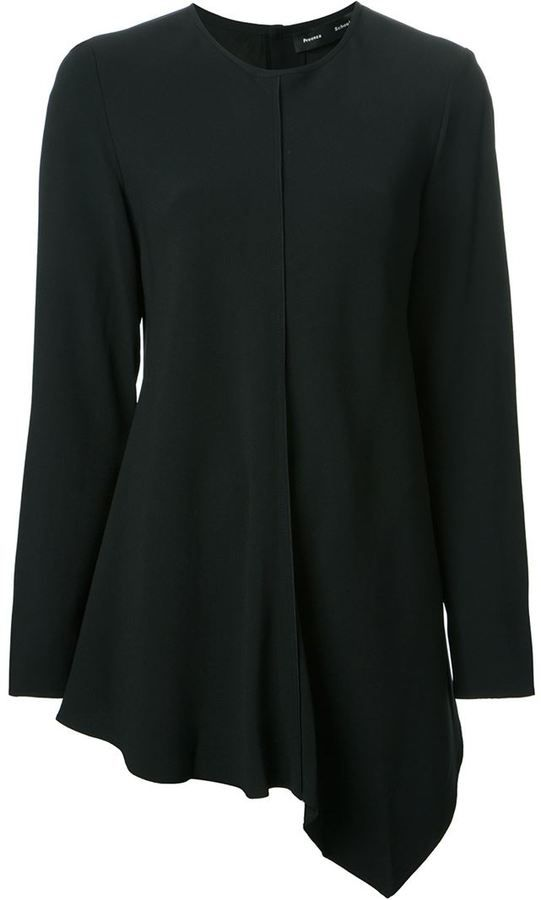 Proenza Schouler asymmetric crepe tunic on shopstyle.com