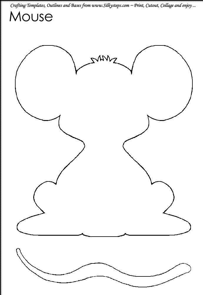 86 best images about literature mouse count mouse shapes on pinterest shape toddler for Google outline template