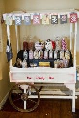 Lisa and Tims Pirate Theme Candy buffet - Paul Willetts Photography