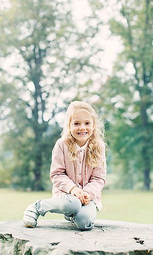 Princess Estelle of Sweden has all the personality and all of the cute! Here is a look at Crown Princess Victoria and Prince Daniel's little girl and all of her sweetest moments in front of the camera.  November 2017: Princess Estelle was just darling in a new photo that is featured on the royal website that was uploaded in the beginning of the month. With a wide grin, the little Princess kneeled on a tree trunk in a pastel coa...