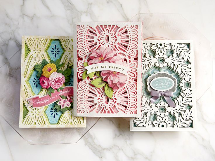 How to create beautiful and simple cards.  Anna Griffin shows you how