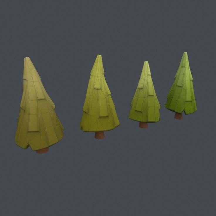 Low poly trees fby Shuzzzz at 3D Ocean
