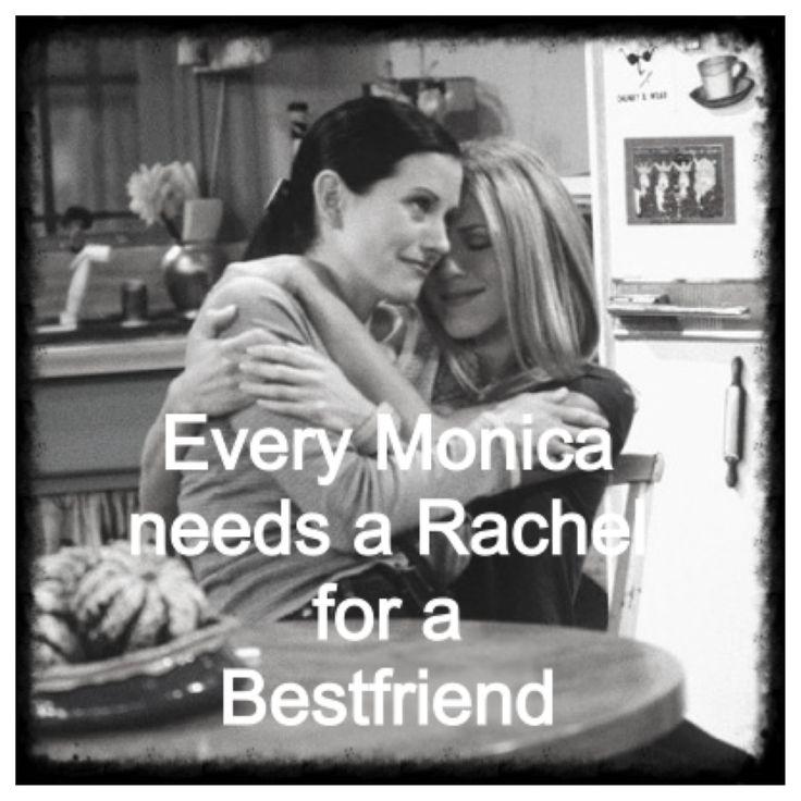 friends rachelandmonica bestfriends quotes Smile