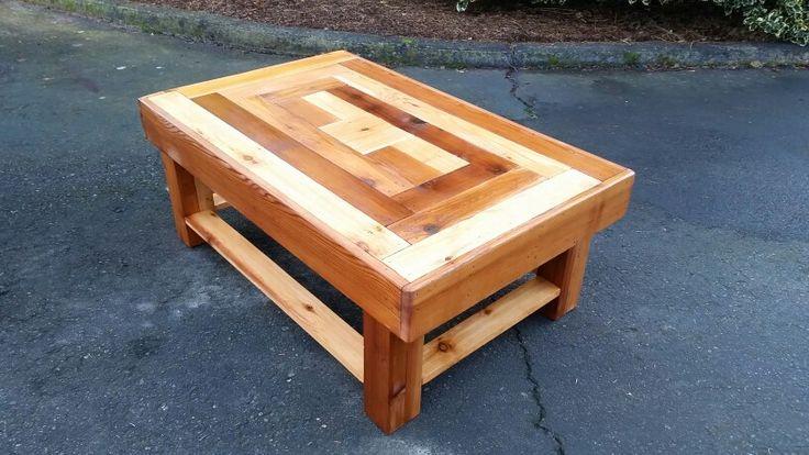 Hand made cedar coffee table. Coated in high quality polyurethane sealant.