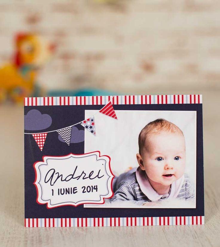 Invitatie botez - Happy Baby Boy | Invitatii si accesorii pentru evenimentele tale speciale