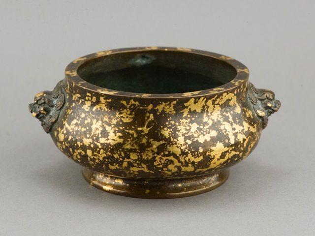 Lot 459Chinese Gold Splash Bronze Censer Ming Xuande Mk$3000-$5000