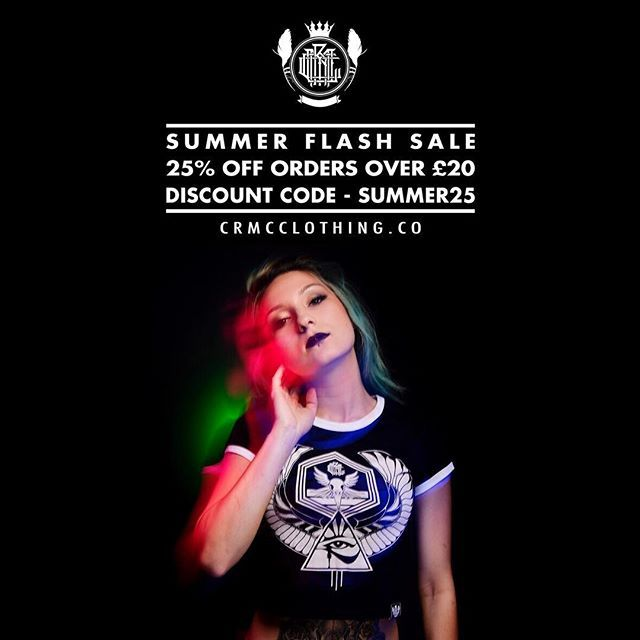 ☀️ CRMC FLASH SALE ☀️  25% OFF all orders £20 or more!   Use discount code - SUMMER25 - at the checkout  Shop on at www.crmcclothing.co | WE SHIP WORLDWIDE #alt #altwear #altfashion #altstyle #alternative #alternativefashion #alternativestyle #fashion #fashionstatement #fashiongram #fashionista #lastchance #cheapdeals #flashsale #fashionoftheday #dailyfashion #summerfashion #summerdeals #deals #summerdeals #streetwear #streetwearclothing #alternativeteen #sale #summersale #sales
