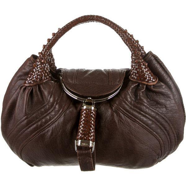 Pre-owned Fendi Spy Bag (36.735 RUB) ❤ liked on Polyvore featuring bags, handbags, brown, handbag purse, fendi handbags, coin pouch, leather purses and genuine leather handbags
