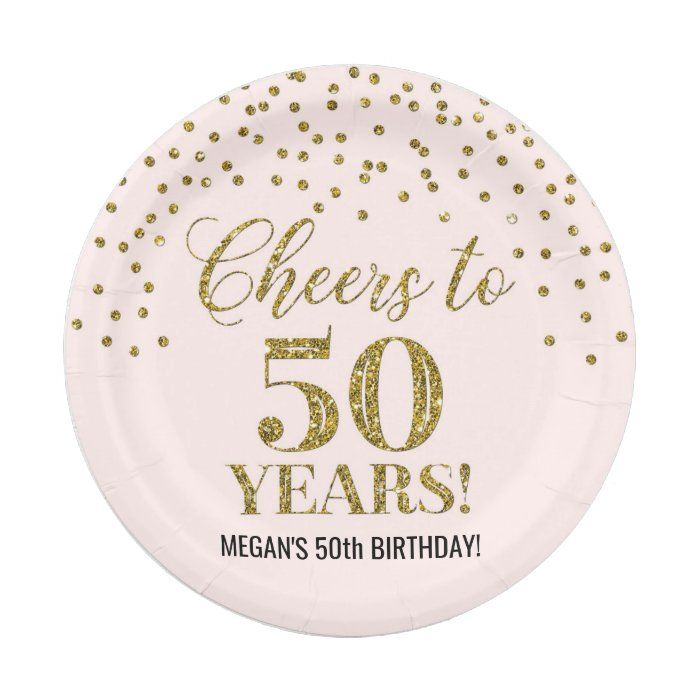 50+ 50th birthday paper plates ideas in 2021