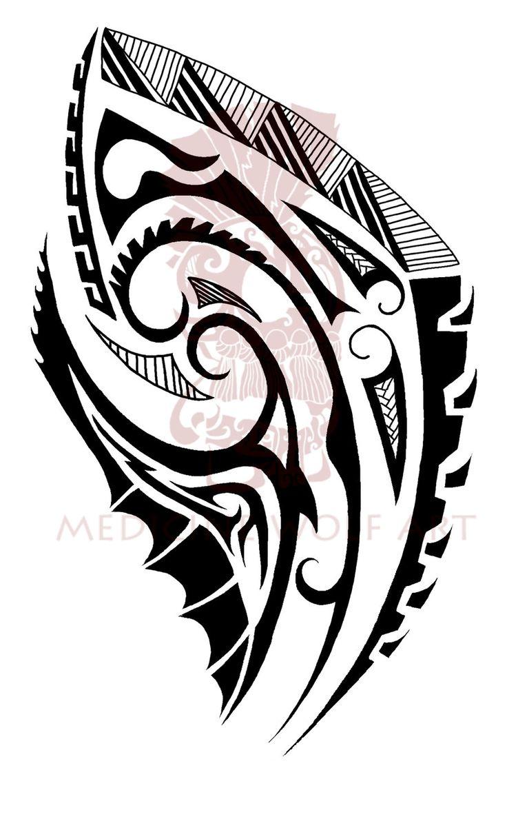 Maori shoulder tat 2 by IkaikaDesign.deviantart.com on @deviantART