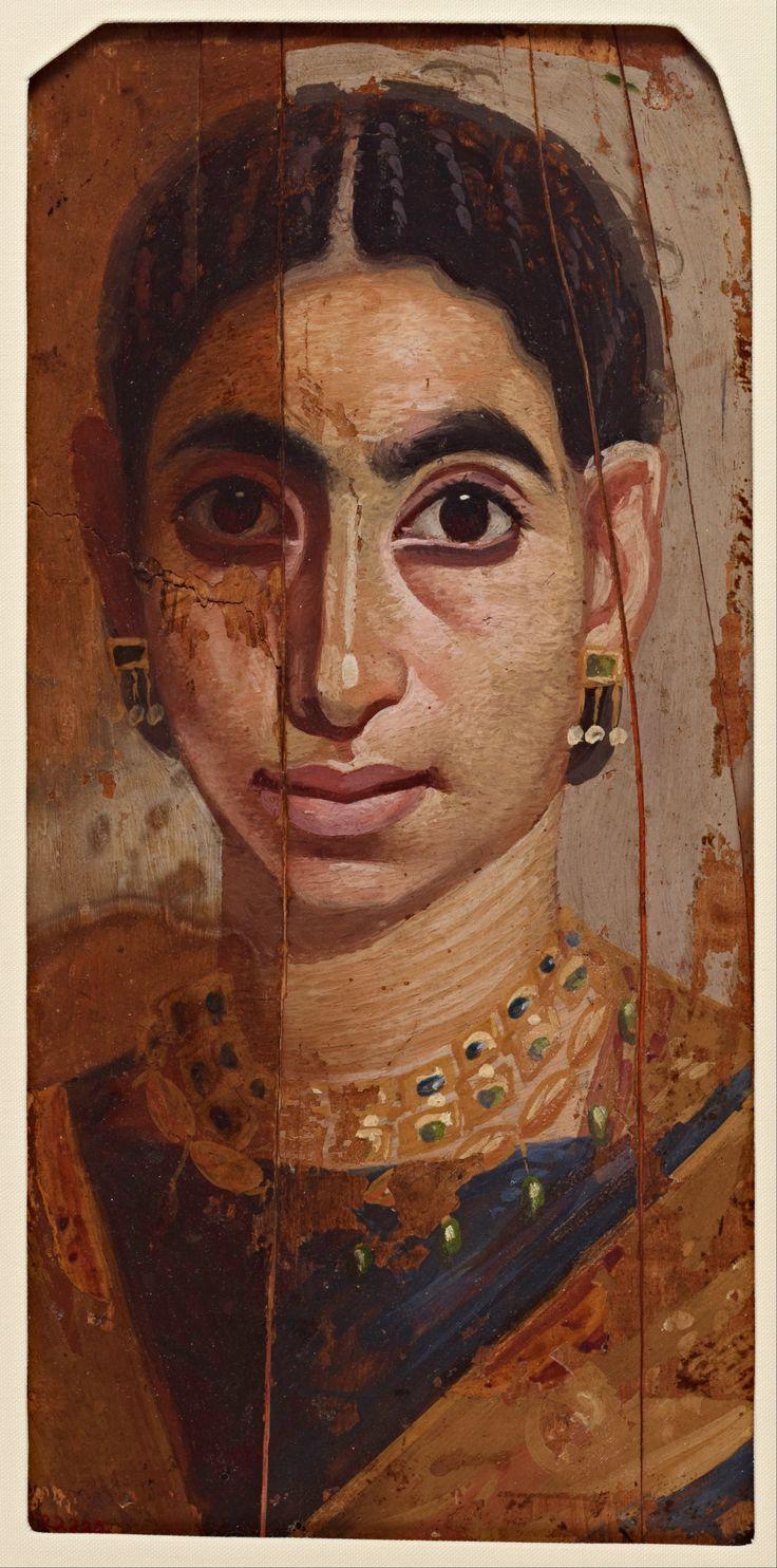 Romano-Egyptian Fayum Portrait of a woman.